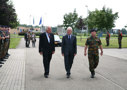 President Pöttering visits the Eurocorps Headquarters in Strasbourg